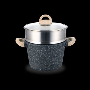 Shogun® Granite-Plus 24x17cm Stockpot with Steamer