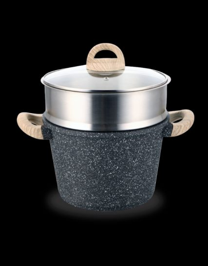 Shogun® Granite-Plus 24x17cm Stockpot with Steamer