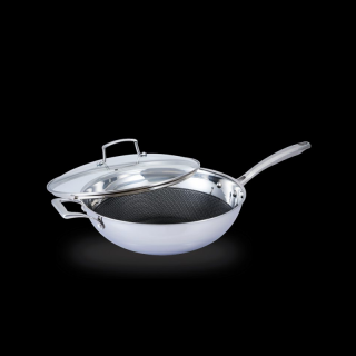 La gourmet® Galactic Wok 28cm with FREE GIFT Silicone Turnerr