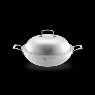 La gourmet® Galactic Wok 32cm with FREE GIFT Silicone Turnerr