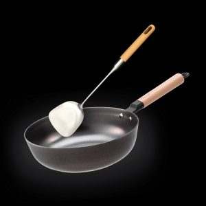 28CM Nitrigan Cast Iron Deep Frypan with FREE Gift