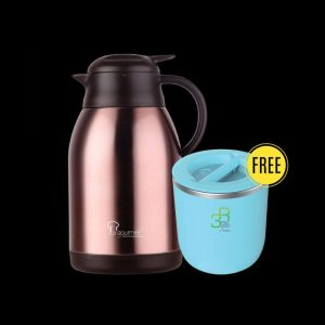 Rose Gold 2000ml Thermal Coffee Pot with FREE Gift