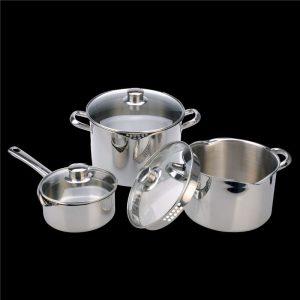 Cook & Pour 3 pc set – Senior set (16cm Saucepan, 20cm Casserole, 24cm Casserole)