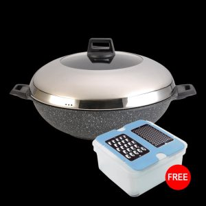 Senjo Plus 40cm Marble wok with IH with FREE Gift