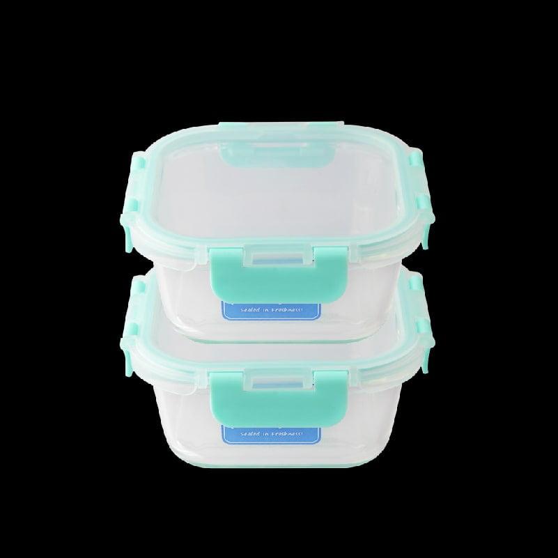 Pureglas 0.8L Square Container x 2-min